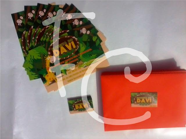 Convite e Tag - Safari