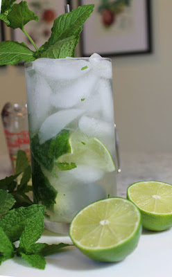 Mint Gin Rickey in a Tall Glass