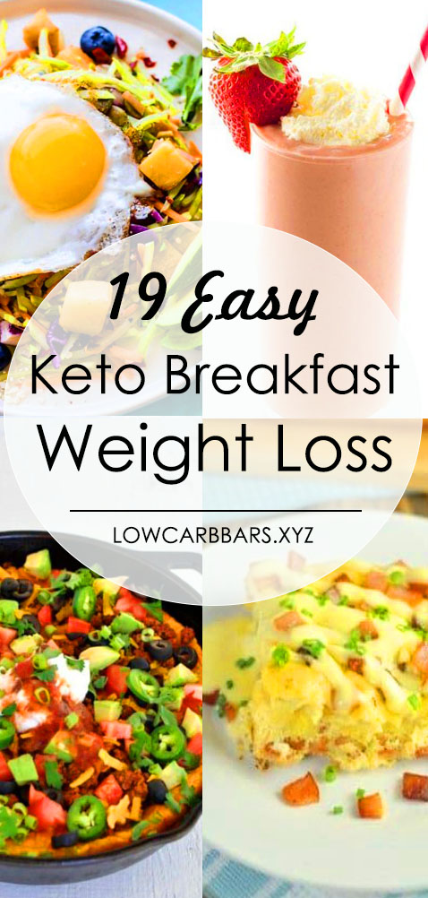19 Easy Keto Breakfast to Help Weight Loss - Need easy keto diet breakfast recipes? These ketogenic breakfasts are the best for weight loss on keto! Add to your weekly meal now! 19 delicious low carb breakfast that you can put together in minutes & grab on the go! These keto breakfast recipes make losing weight simple even if you're a beginner! #keto #ketorecipes #ketodiet #ketogenic #ketogenicdiet #lowcarb #weightlossrecipes #LCHF #ketobreakfast