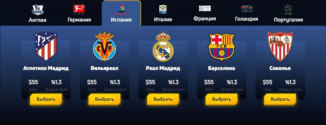 Инвестиционные планы FootballFever 3