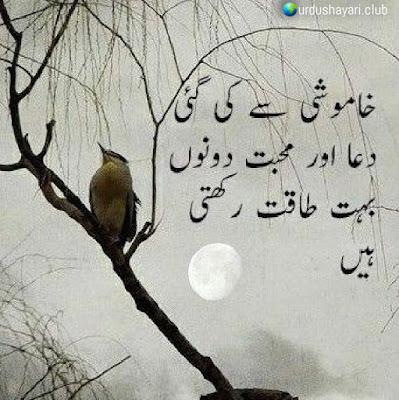 """Khamoshi Say Ki Gai..  Dua Aur """"Muhabbat"""" Dono  Buhat Taqat Rekhti Hai..!!  #lines"""