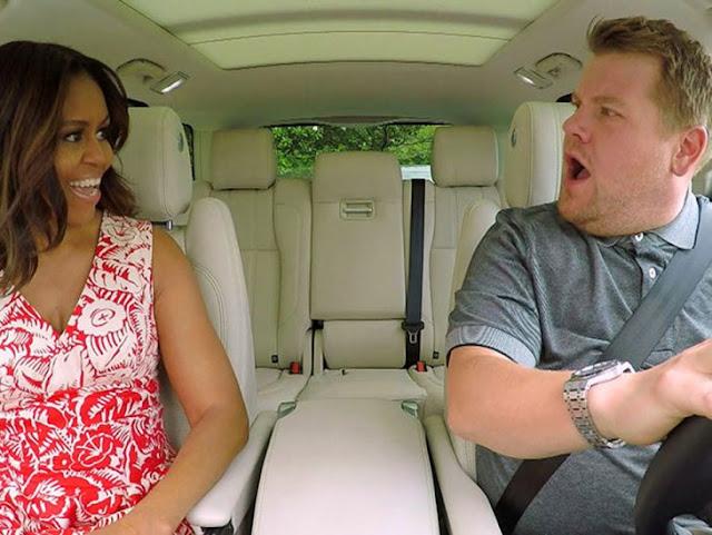 La primera dama Michelle Obama canta en Carpool karaoke