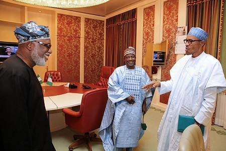 Akeredolu Boasts About Ondo Election as He Meets President Buhari in Aso Rock (Photos)