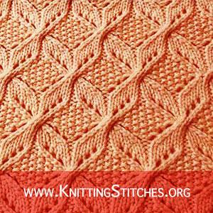 Knitting Square Patterns. Windmill Knitting Stitch Pattern. Fabulous Knitted Lace Stitches. Best Cable and Lace knitting stitches !