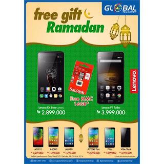 Global Teleshop Ramadan Promo Lenovo Free Gift SanDisk MMC 16 GB