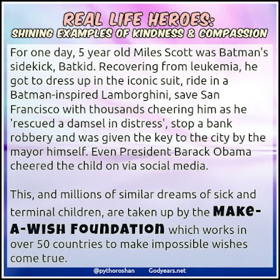 The Batkid story remains one of the most famous successful events done by the Make-A-Wish Foundation