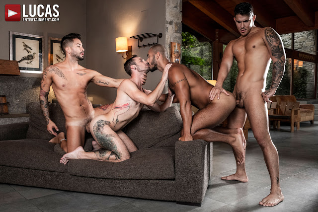 LucasEntertainment - LOUIS, APOLO, DRAKE, AND ANDREA'S ASS-SPLITTING FOURSOME