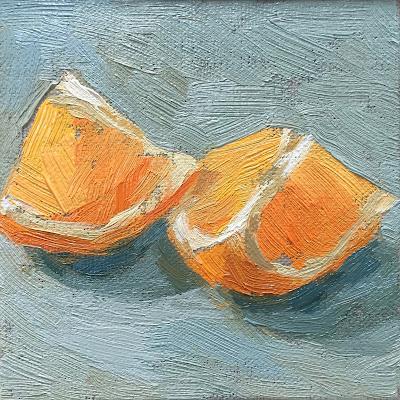 #37 'Orange Studies' 4×4″