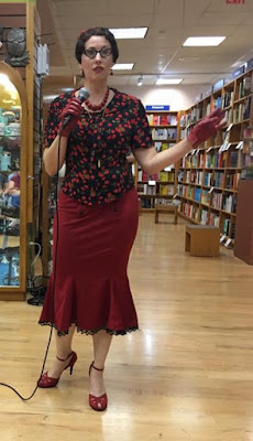 Gail Carriger's Imprudence Tour Outfit ~ Red Trumpet Skirt in Texas