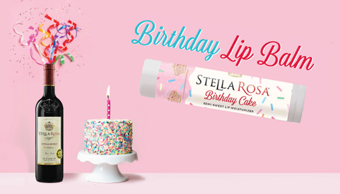 FREE Stella Rosa Birthday Cake Lip Balm Sample