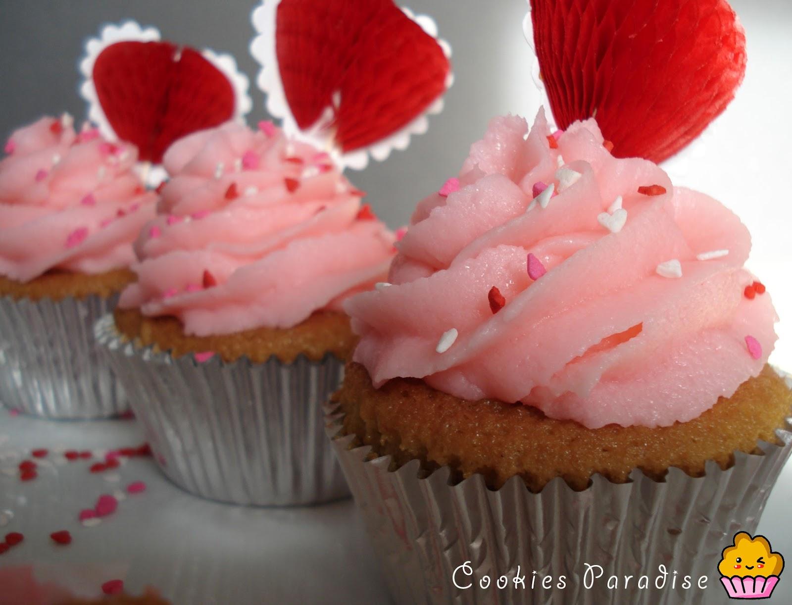Cupcakes Para San Valentín Cookiesparadises Blog