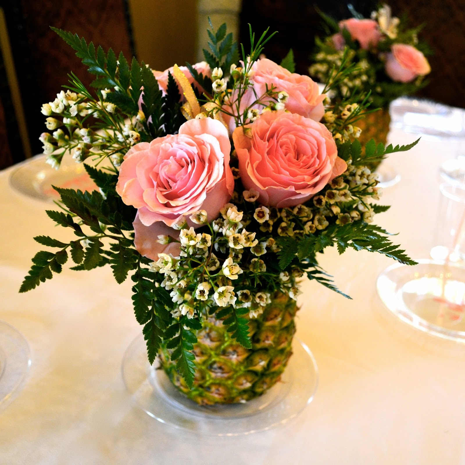 Glass Pineapple Centerpiece : Planning your daughters wedding the bridal shower quite