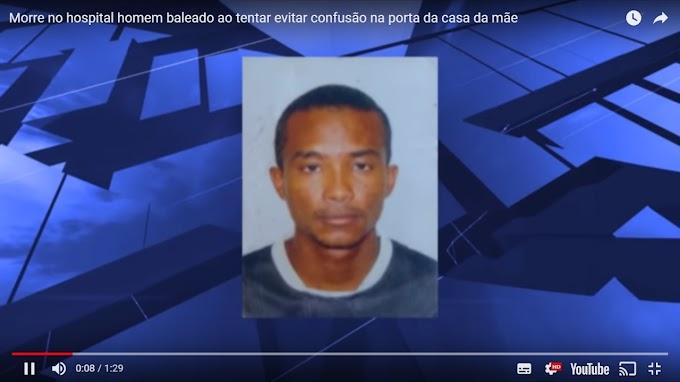 CAXIAS - Homem baleado ao tentar evitar confusão na porta da casa da mãe não resiste e morre em hospital