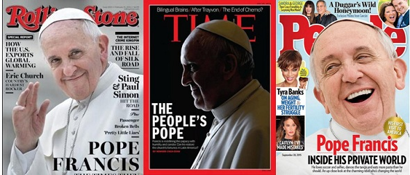 Portadas de Revista con el Papa Francisco