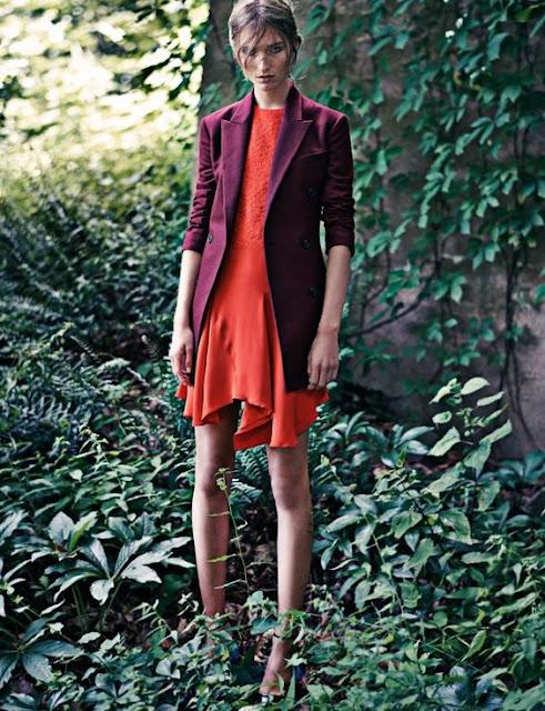 orange and burgundy fashion