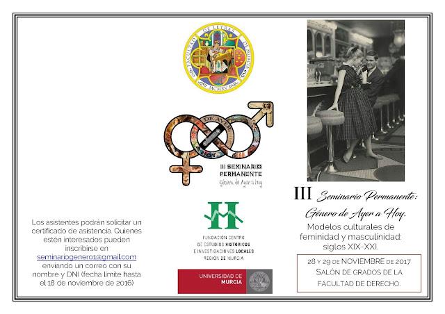 III Seminario Permanente: Género, de ayer y hoy.