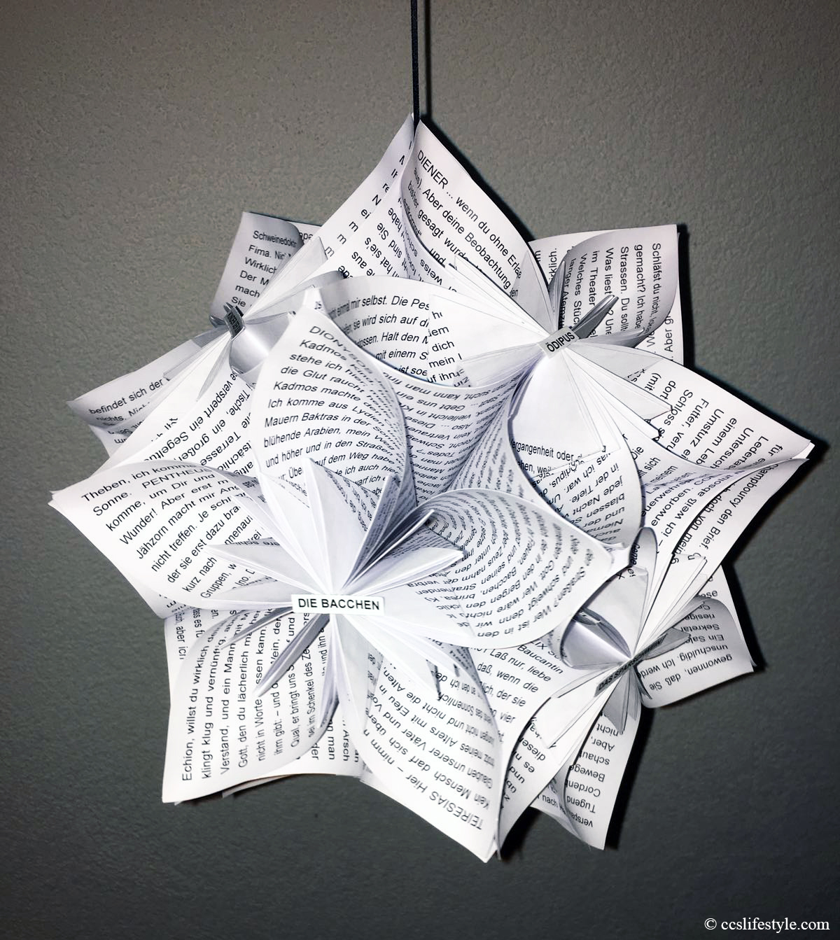 Ccs Lifestyle Origami Flower Ball