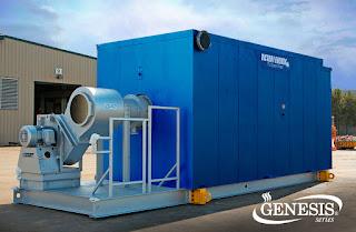 High temperature fluid generator skid mounted outdoor location