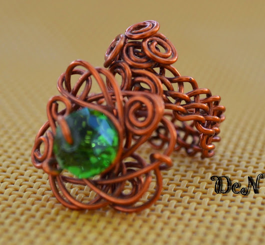 Handmade Wire wrapped copper ring