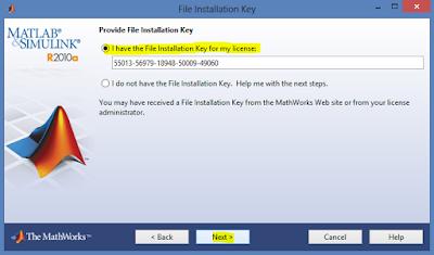 Memasukan Installation Key