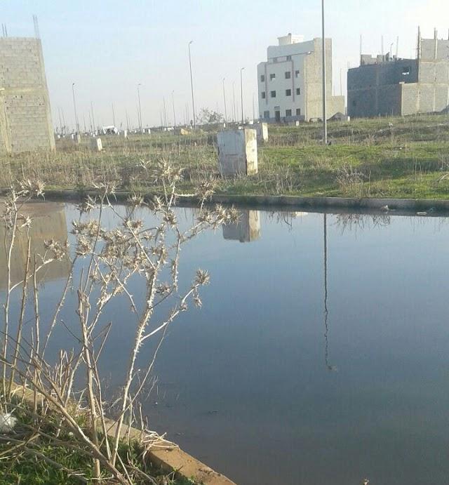 فيضان مياه الواد الحار على تجزئة عرسة الشاوية أمام لامبالاة للمسؤولين