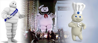 Ghostbusters 1984 Stay Puft Marshmallow Man Michelin Man Pillsbury Dough Boy