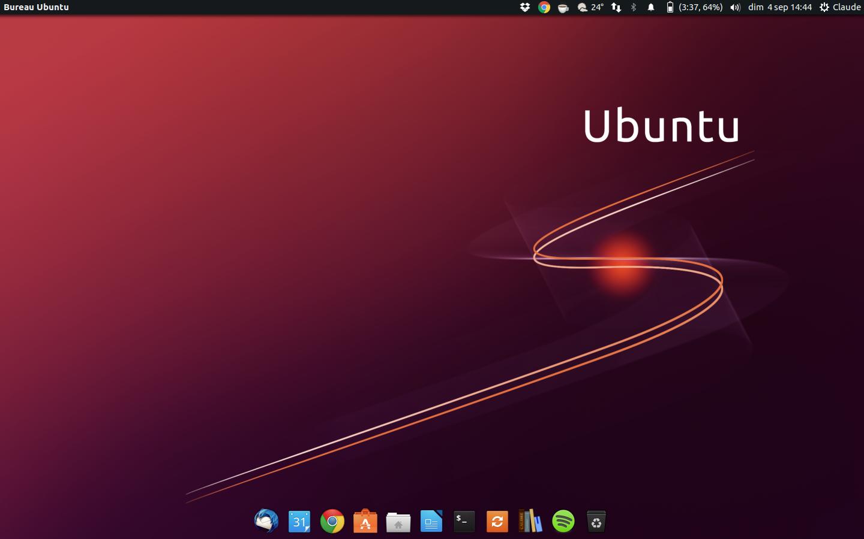 Bureau noir ubuntu black white icon theme pour ubuntu télécharger