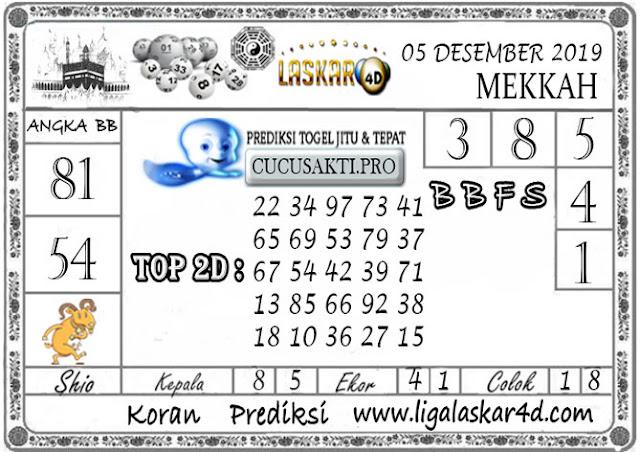 Prediksi Togel MEKKAH LASKAR4D 05 DESEMBER 2019