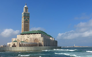 Hassan II moskeen i Casablanca, Marokko