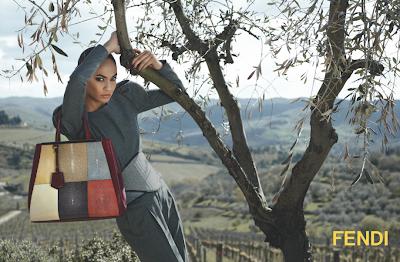 Fendi's Fall/Winter 2012-13 Ad Campaign 2Jours Joan Smalls