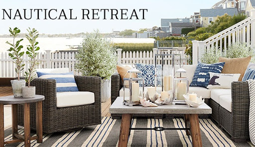 Nautical Outdoor Retreat at Pottery Barn