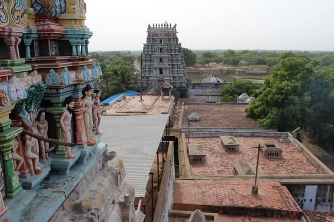 View From The Thirukoshtiyur Temple Vimanam