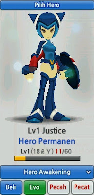 Justice Hero Evolution Lost Saga Indonesia