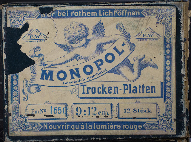 Monopol-Trocken-Platten - Bild der Verpackung - um 1900