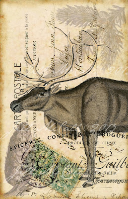 ~Winter Reindeer~  Original Art by Jill McCall©2013