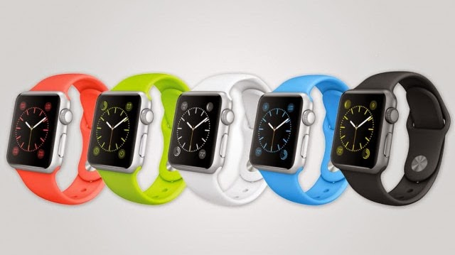 Apple Watch Sport features 5 different band color options