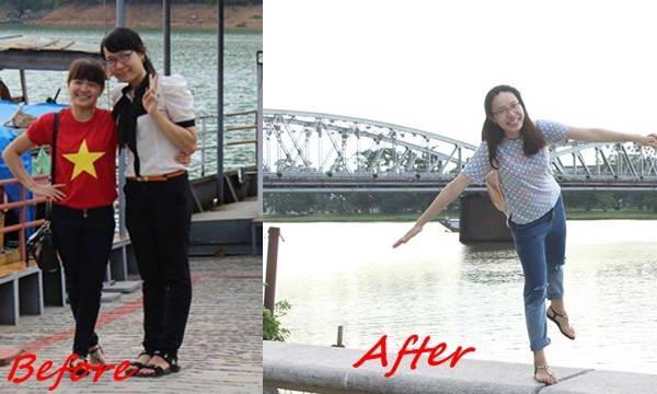 Nữ sinh Huế giảm 4kg trong 2 tháng nhờ bí đao