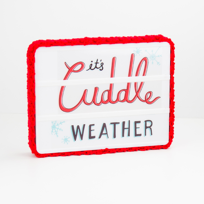 Heidi Swapp Lightbox Cozy Easy Crochet Pattern by @createoften for @heidiswapp