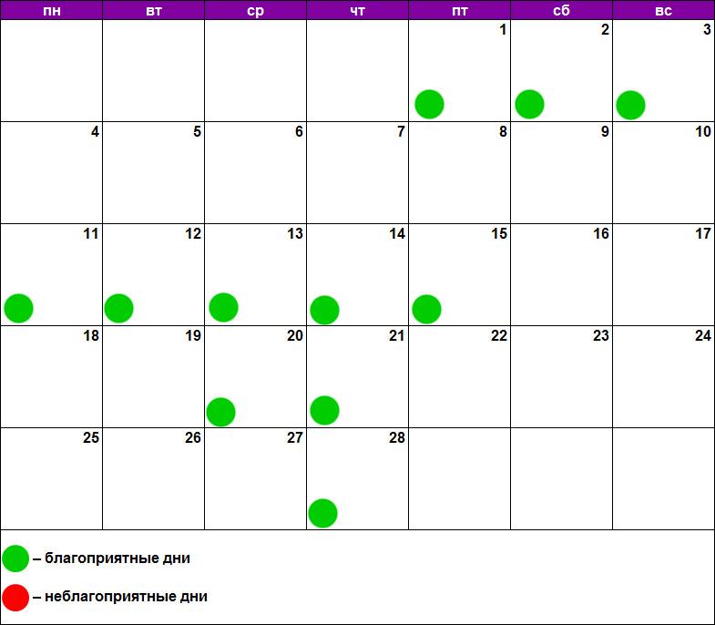 Лунный календарь массажа февраль 2019