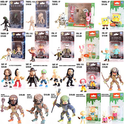The Loyal Subjects' San Diego Comic-Con 2018 Exclusive Action Vinyls Mini Figures – WWE, Predator, Aliens, Horror & Nickelodeon