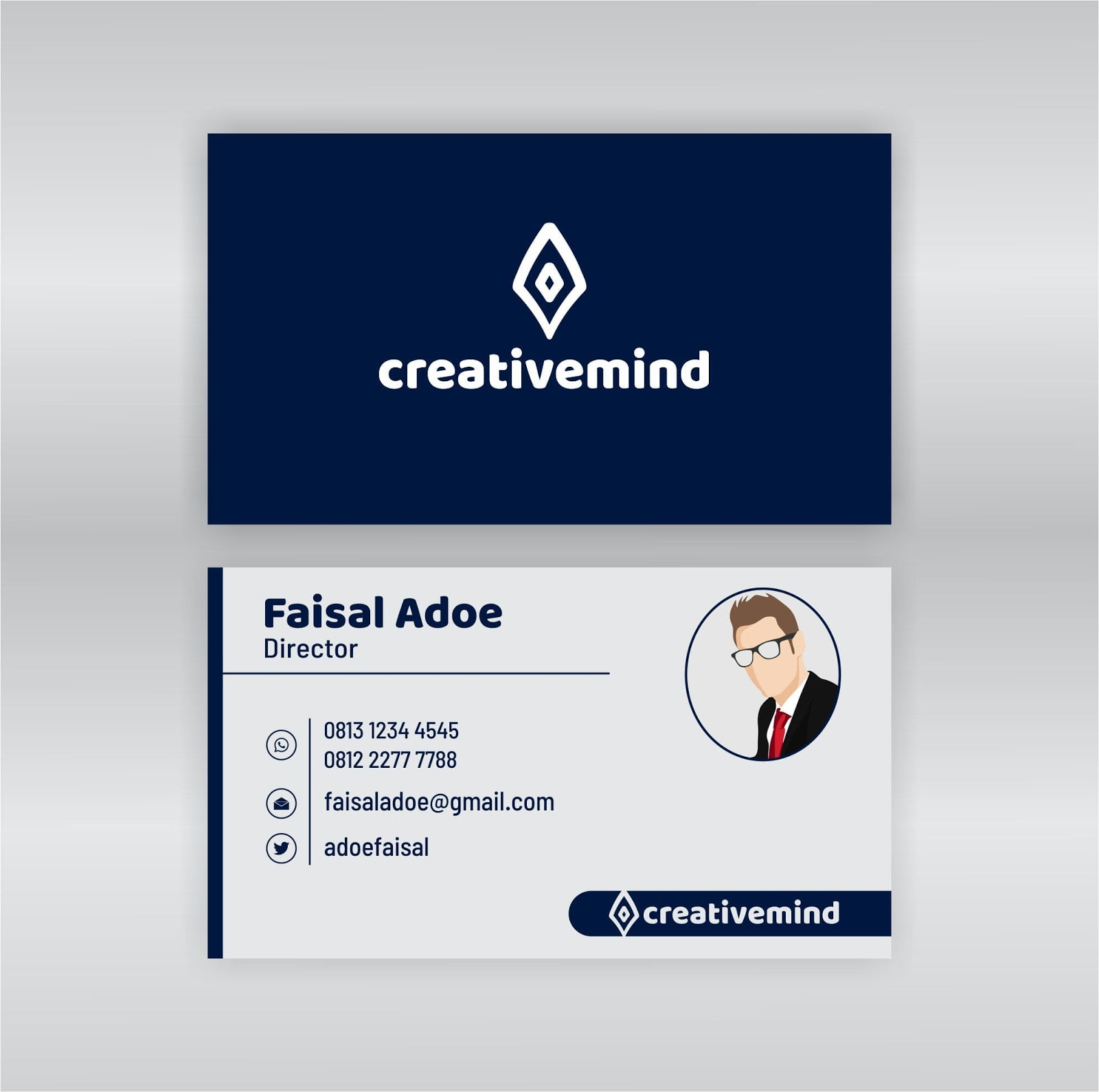 Free Download Name Card Simple Modern 2019