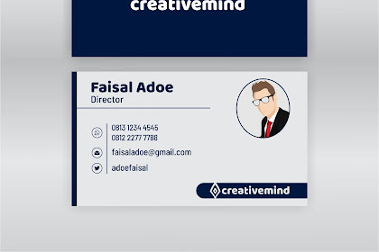 Free Download Design Name Card Simple Modern 2019