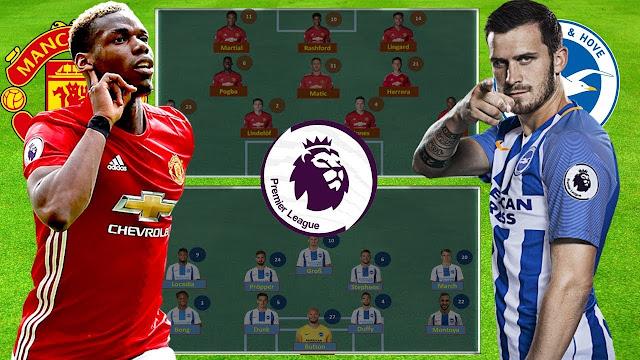 Manchester United vs Brighton Live Streaming EPL 2019 ( 19.1.2019 )