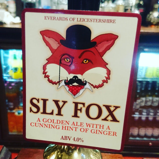 Leicestershire Craft Beer Review: Sly Fox from Everards real ale pump clip