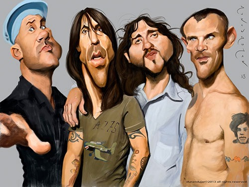 """Red Hot Chili Peppers"" por Durán Andújar"