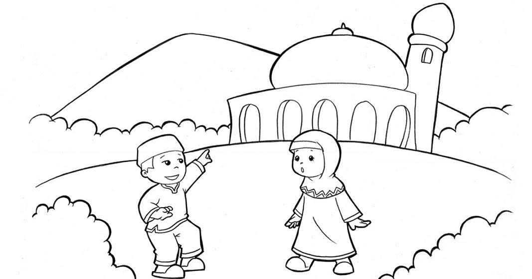 Gambar Mewarnai Muslim