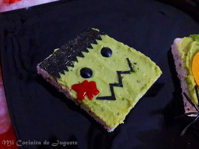 Sandwich Frankenstein / Calabaza (Halloween)