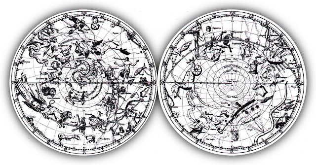 Hemispheric Maps of Constellations