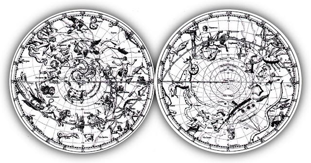 Hemispheric Maps of Constellations