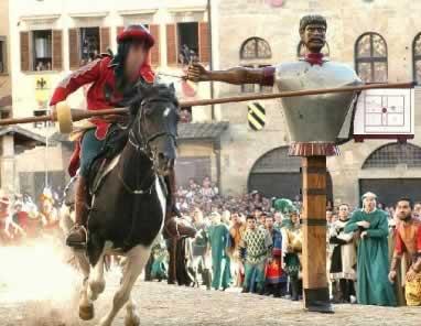 Se durante il contaccolpo il cavaliere veniva colpito sulla cuffia che  portava in testa 69fbfeb33a3e